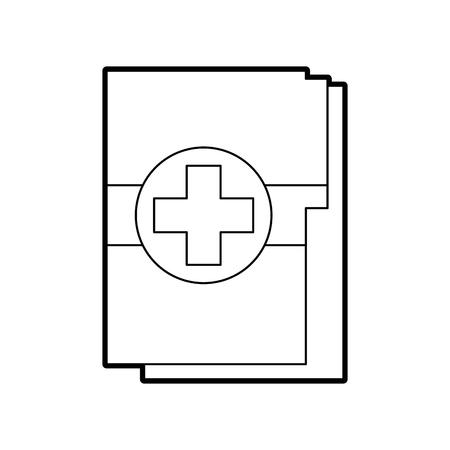 medische gezondheidsrecord map voor wellness vector illustratie Stock Illustratie