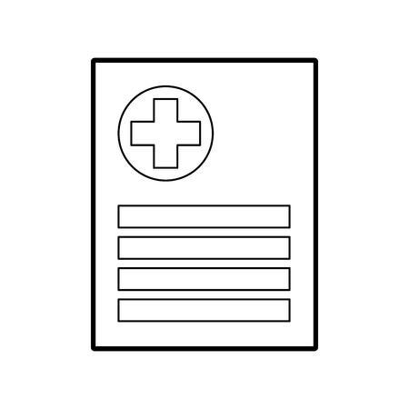paciente archivo icono informe médico análisis diagnóstico vector ilustración Ilustración de vector