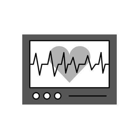 心電図マシン ハートビート monitoringv アイコン ベクトルの表示
