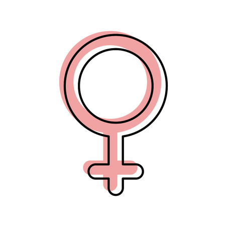 gender symbol of women on white background vector illustration