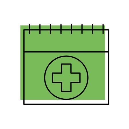 医療日カレンダー ベクトル イラストレーションなど予定] アイコン
