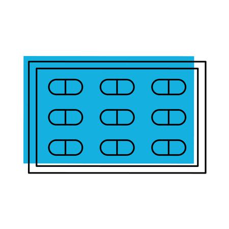 Drug problème médicale vaccin de médicament pour la chirurgie des comprimés antibiotique illustration vectorielle Banque d'images - 85138708
