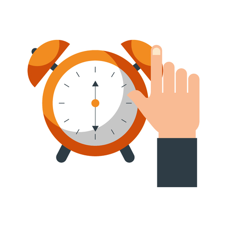 business clock alarm device icon vector illustration Ilustrace