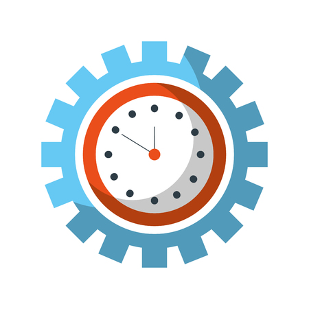 clock inside gear business time work concept vector illustration Stok Fotoğraf - 85138834
