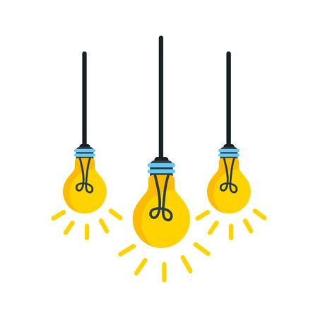 電球が天井からぶら下がっているベクトル イラスト