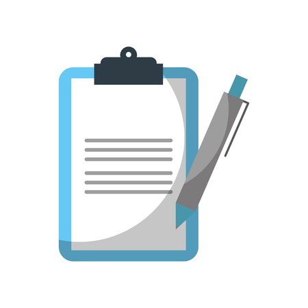 clipboard  checklist with write pen work element vector illustration  イラスト・ベクター素材
