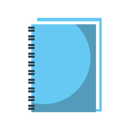spiral notebook cover leaves equipment vector illustration
