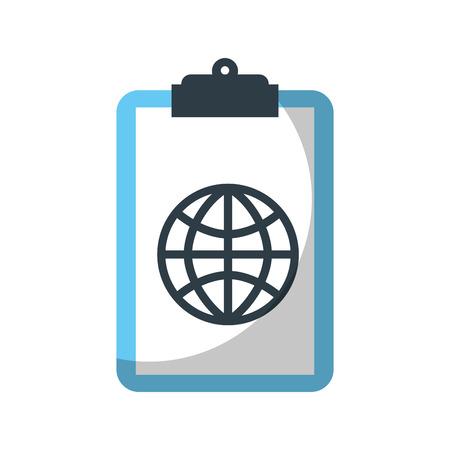 Presse-papiers avec connexion globale réseau image illustration vectorielle Banque d'images - 85138933