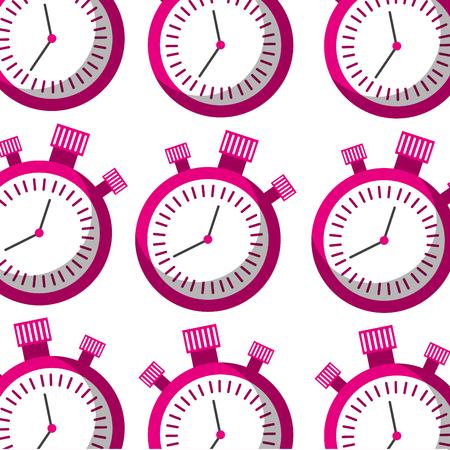 chronometer timer second countdown seamless pattern design vector illustration