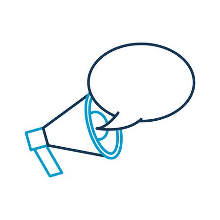announcement megaphone bubble speak broadcast vector illustration