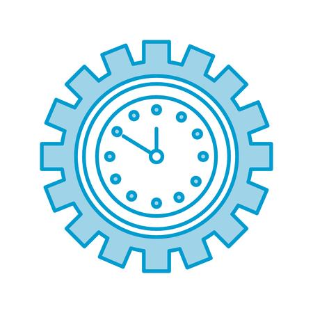 Horloge à l'intérieur des engins temps de travail travail concept vector illustration Banque d'images - 85139271