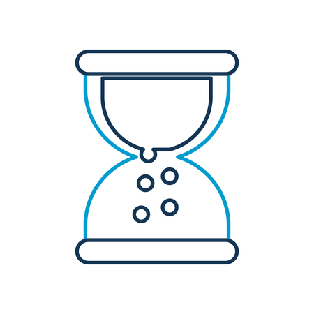 business sand clock time plan work vector illustration Illustration