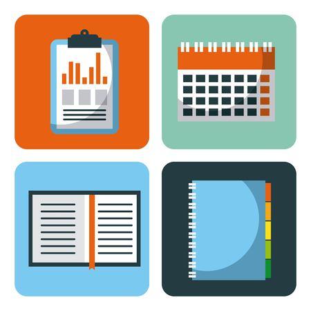 ビジネス要素アプリ デザイン ベクトル図のセット
