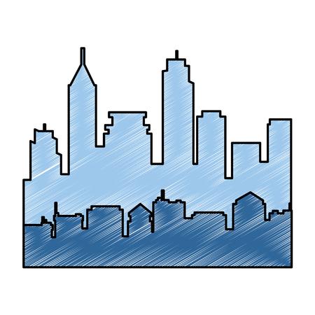 도시 실루엣 격리 아이콘 벡터 일러스트 디자인 스톡 콘텐츠 - 85242208