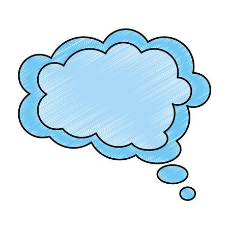 communication cartoon: dream cloud isolated icon vector illustration design Illustration
