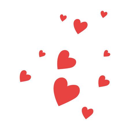 Herzen lieben Musterhintergrundvektor-Illustrationsdesign Standard-Bild - 85242309