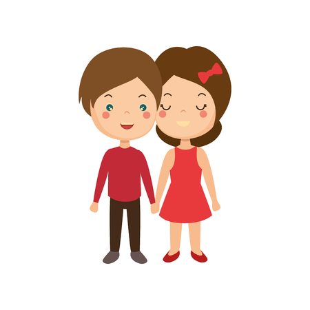 cute couple in love vector illustration design
