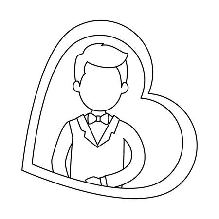 心臓ベクトル イラスト デザインでかわいい夫