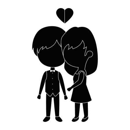 cute couple in love with heart vector illustration design Фото со стока - 85243985