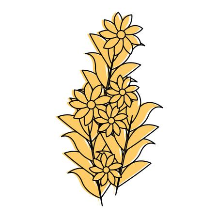 Belles fleurs icône décorative illustration vectorielle conception Banque d'images - 85242589