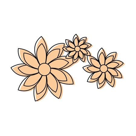 Belles fleurs icône décorative illustration vectorielle conception Banque d'images - 85242594