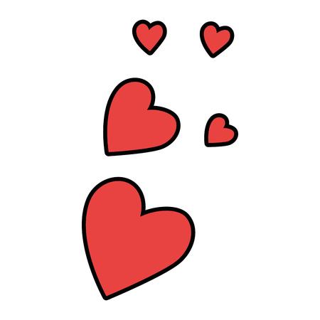 Herzen lieben Musterhintergrundvektor-Illustrationsdesign Standard-Bild - 85246252