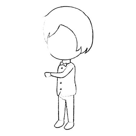 Schattige man avatar karakter vector illustratie ontwerp