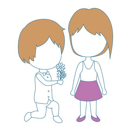 cute couple just married vector illustration design Illustration