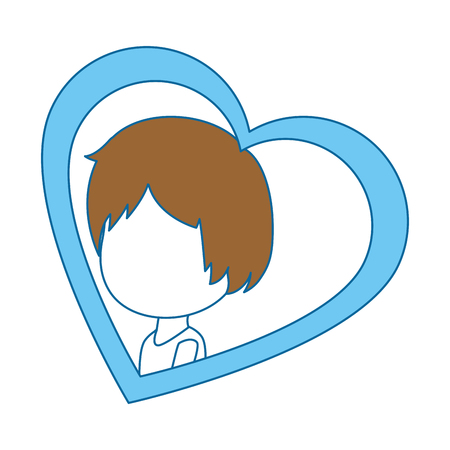 cute husband with heart vector illustration design Ilustração