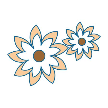 Belles fleurs icône décorative vector illustration design Banque d'images - 85246368
