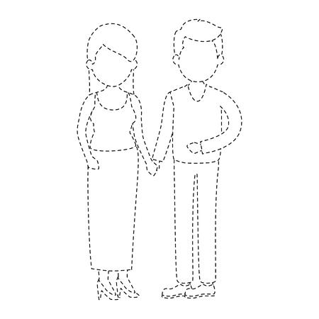 可愛いカップルジャスト・既婚ベクターイラストデザイン  イラスト・ベクター素材