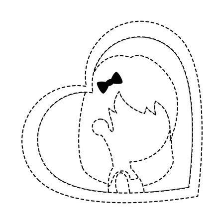 Schattige vrouw met hart vector illustratie ontwerp Stockfoto - 85246409