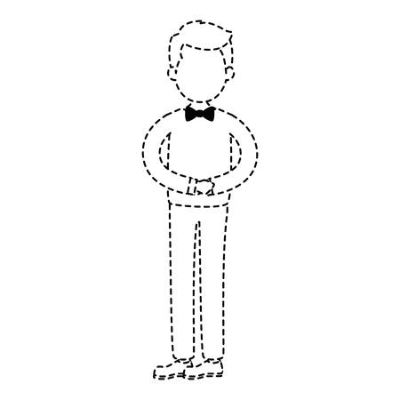 Disegno sveglio dell'illustrazione di vettore del carattere dell'avatar del marito Archivio Fotografico - 85246220