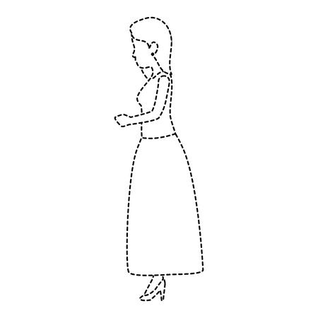 Schattige vrouw avatar karakter vector illustratie ontwerp