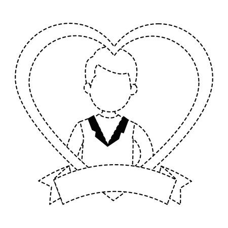Schattige man met hart vector illustratie ontwerp Stockfoto - 85246442