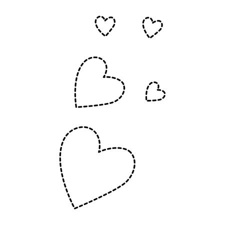 Herzen lieben Muster Hintergrund Vektor-Illustration Design Standard-Bild - 85246443