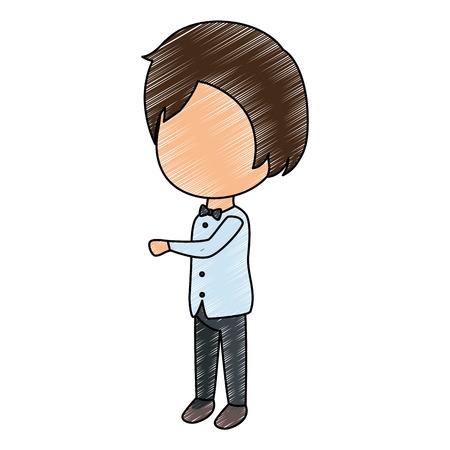 かわいい旦那アバターキャラクターベクターイラストデザイン  イラスト・ベクター素材