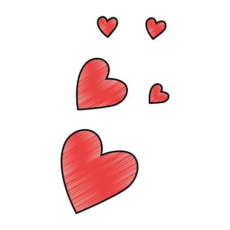 Herzen lieben Musterhintergrundvektor-Illustrationsdesign Standard-Bild - 85246501