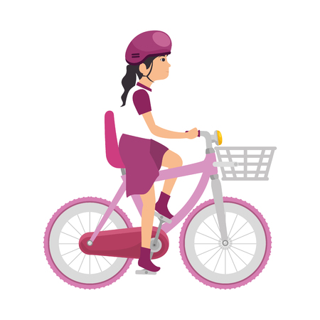 woman cyclist riding a bicycle vector illustration design Stock Vector - 85246519