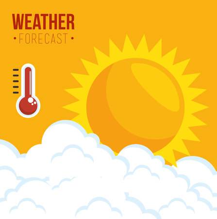 summer season weather forecast concept vector illustration graphic design