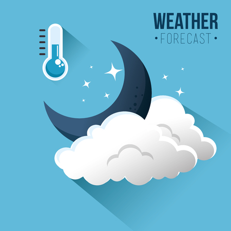 winter weather forecast concept vector illustration graphic design