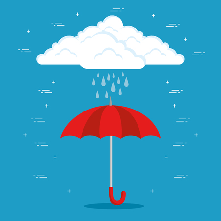 Regenwetter-Vorhersage Vektor-Illustration-Grafikdesign