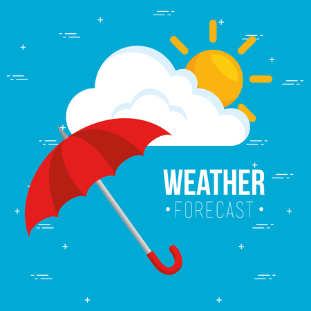 rainy weather forecast vector illustration graphic design Banco de Imagens - 85246570