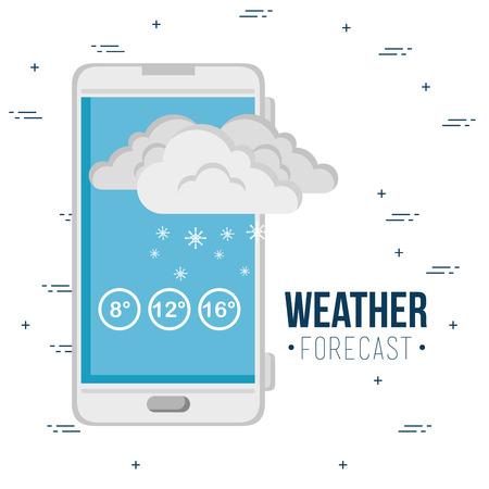天気予報アプリケーションベクターイラストグラフィックデザイン  イラスト・ベクター素材