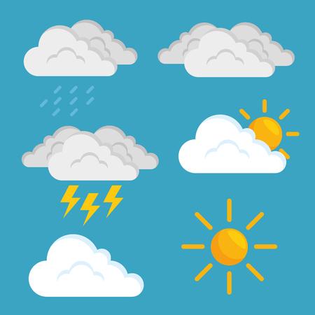 Prévision météo concept vector illustration design graphique Banque d'images - 85246573