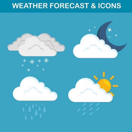 weather forecast concept vector illustration graphic design