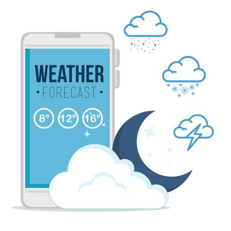 天気予報アプリケーションのベクトル イラスト グラフィック デザイン  イラスト・ベクター素材