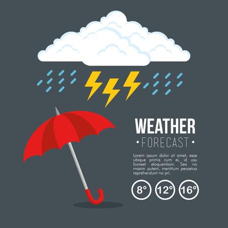 rainy weather forecast vector illustration graphic design