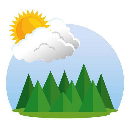 summer season weather forecast concept vector illustration graphic design