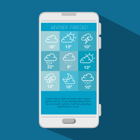 weather forecast application vector illustration graphic design